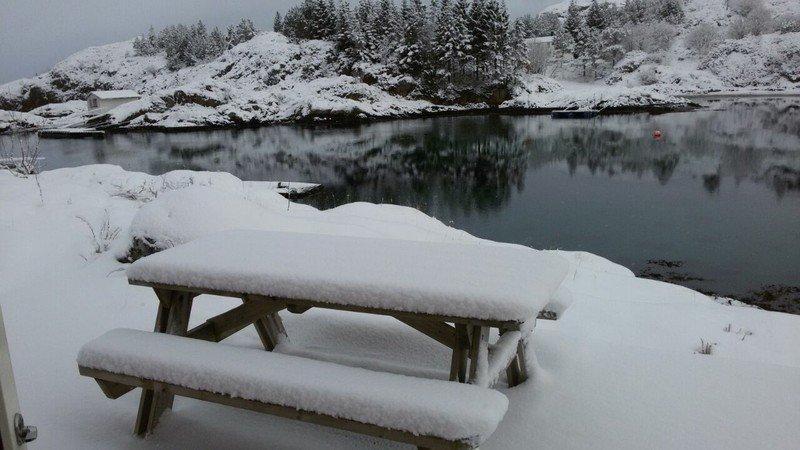 In der Nacht zu unser Abfahrt war ca. 20 cm Schnee gefallen!