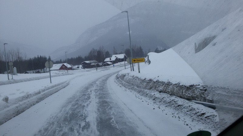 Strecke E 6 Lillehammer nach Hitra