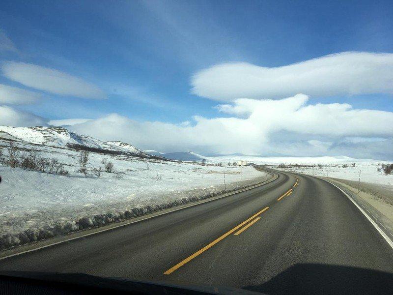 Abfahrt in Lillehammer