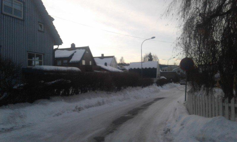 Verschneite Straßen Lillehammer